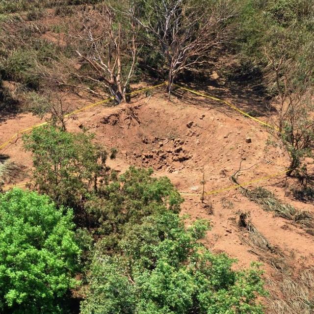 尼加拉瓜首都遭陨石冲击 现直径12米大坑(图)