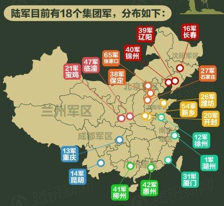 国防白皮书首次公布中国陆军18个集团军番号