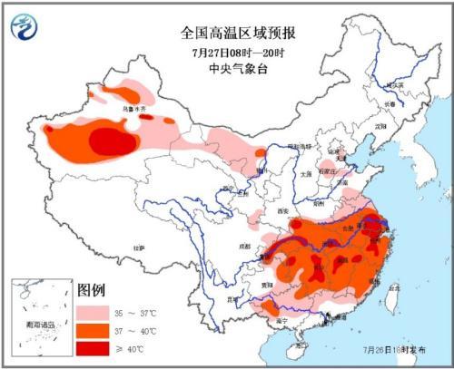 """中国7亿人遭高温""""烧烤"""" 局地体感温度超50℃"""