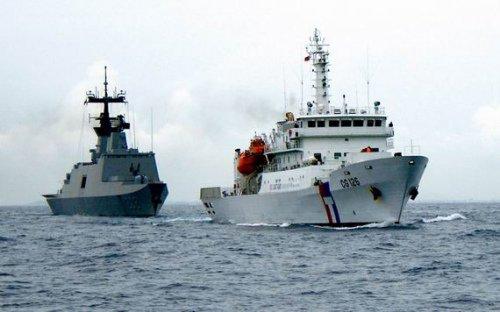 台出动5艘军舰向菲示威 演练应对菲二手巡逻舰