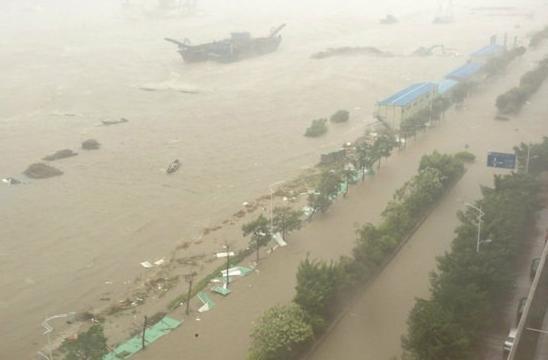 强台风天兔致广东25人遇难 汕头老城区几乎全被淹
