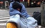 美国纽约持续低温 流浪者露宿街头捱过寒冬