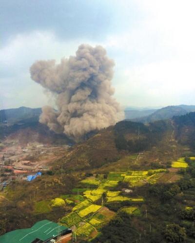 成都在建隧道爆炸1人死亡20人伤 现场如火山喷发