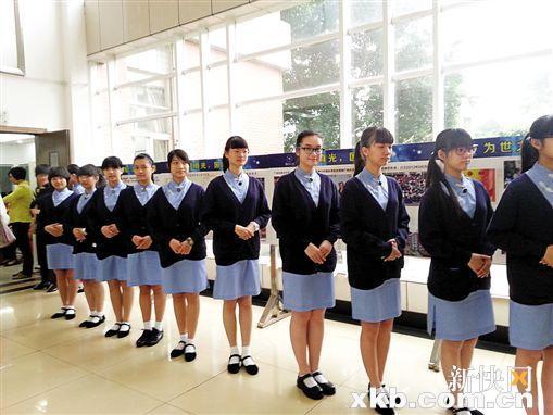 广州一特色开学生女生班旗袍穿女子学家政礼中学激动见到很图片