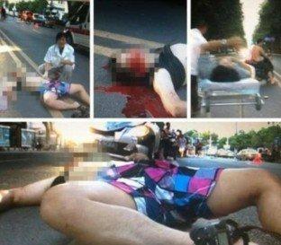 2名上海记者在南京马路中间拍照被撞1死1伤(图)