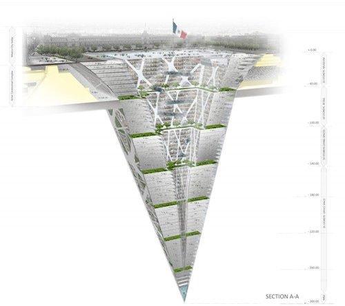 墨西哥欲建深入地下300米倒金字塔式大楼(图)