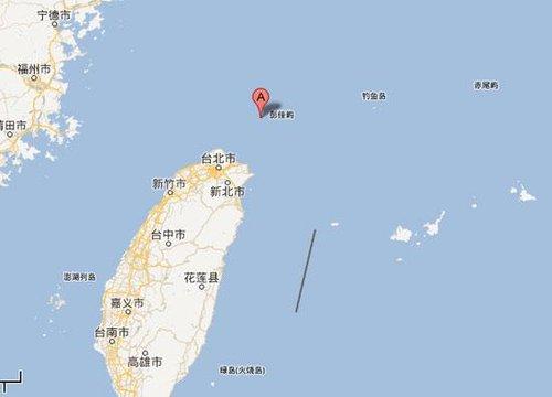 马英九登上彭佳屿视察 台军两架战斗机伴随护航