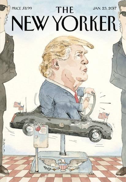 《纽约客》杂志1月23日封面。