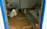 农民工集体晒宿舍 睡木板冬天没热水