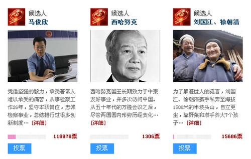西哈努克入选2012感动中国推荐人物名单(图)