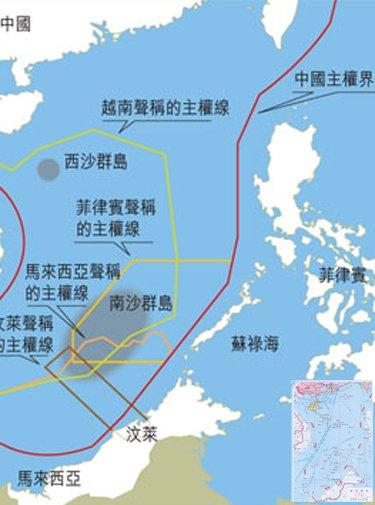 图:南海争端示意图