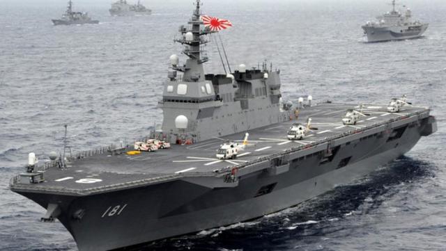 """外媒:日本""""出云""""号高调游弋南海挑衅中国"""