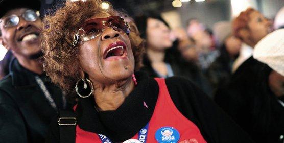 高清:奥巴马击败罗姆尼再次当选总统