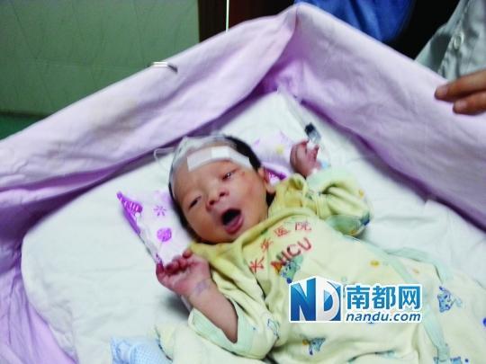 东莞新生男婴被弃河边 挺过台风奇迹获救