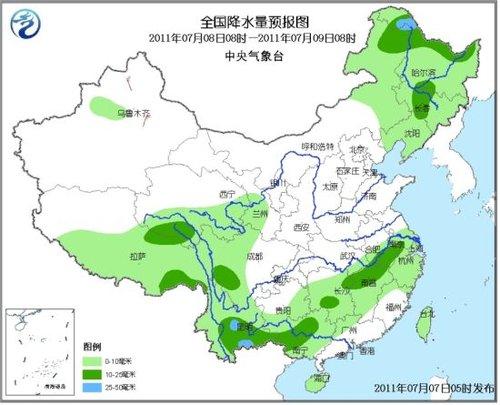 未来三天重庆湖南有较强降水 江南华南等高温