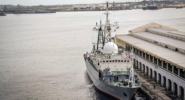 俄侦察舰抵近美国本土潜艇基地 美军称不担心