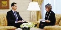 叙利亚总统巴沙尔(左)20日接受英国媒体采访时表示将战斗至死