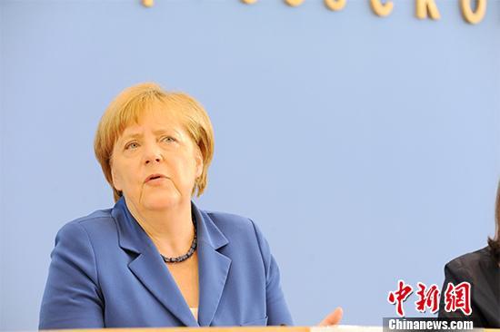 德国总理默克尔。中新社记者 彭大伟 摄
