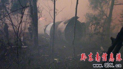长征三号乙火箭残骸坠入贵州尚寨境内(图)