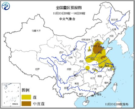 河北山东安徽等地将有霾内蒙古东北地区现雨雪
