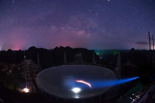 中国天眼探测范围可达宇宙边缘 台媒:或能寻外星人