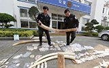 福建警方缴获超120斤象牙制品