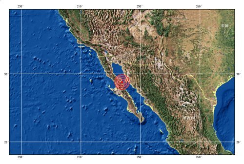 加利福尼亚湾分别发生6.2级和6.9级地震