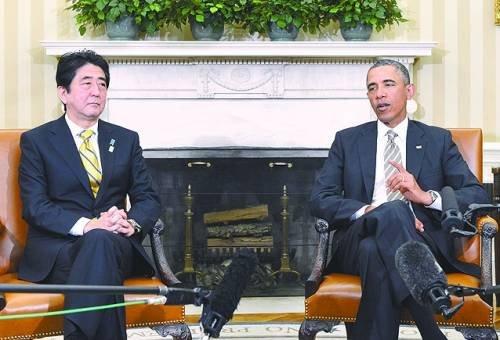 安倍访美逢迎美国 日本主动联美制华愈加明显