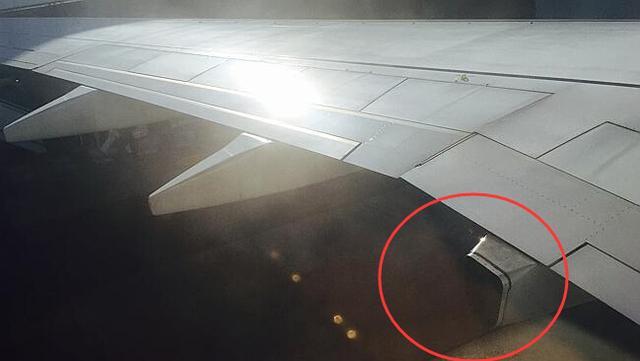 """澳大利亚乘客高空发现机翼部件""""丢失""""(图)"""