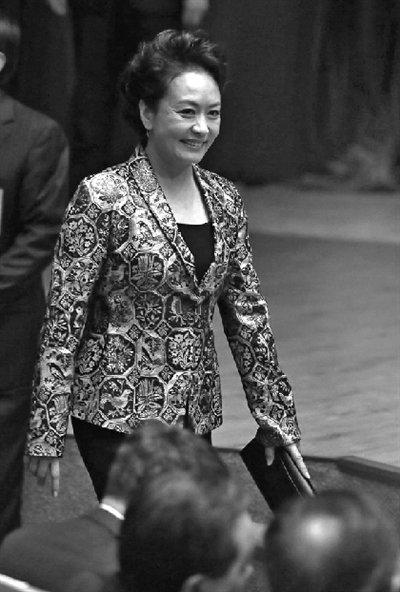 外媒称彭丽媛具第一夫人全部特征 普京向其献花