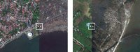 对比图:台风肆虐前后的菲律宾