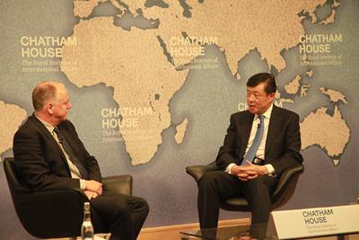 驻英国大使刘晓明就南海问题在英国皇家国际问题研究所演讲答问实录