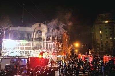 沙特处决宗教人士 伊朗民众冲击使领馆纵火