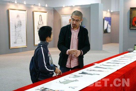 """上海小观众对""""和美西藏""""作品充满好奇"""