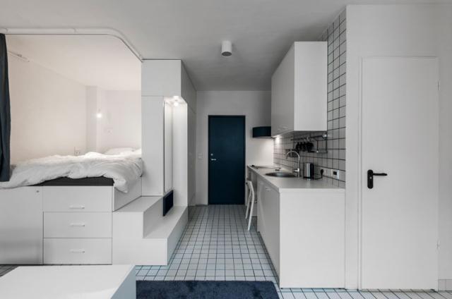 维尔纽斯:25平米的微型公寓,却有着不同的解决方案