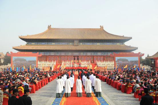 北京太庙举行祭祀典礼 外国友人感受中国文