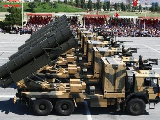 土耳其在土叙边境部署火箭炮和高炮(图)图片