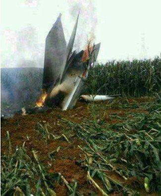 网友称一军用飞机坠毁在大连瓦房店复州城