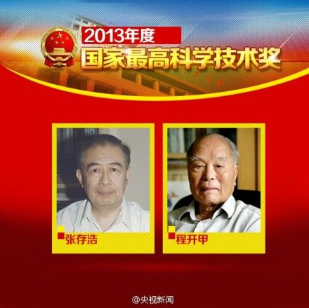 2013年国家最高科学技术奖得主:张存浩、程开甲