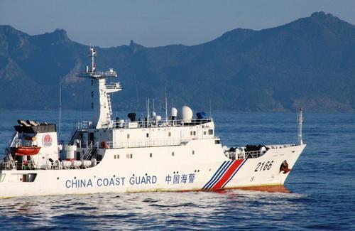 中国海警舰船编队3月1日进钓鱼岛12海里领海巡航