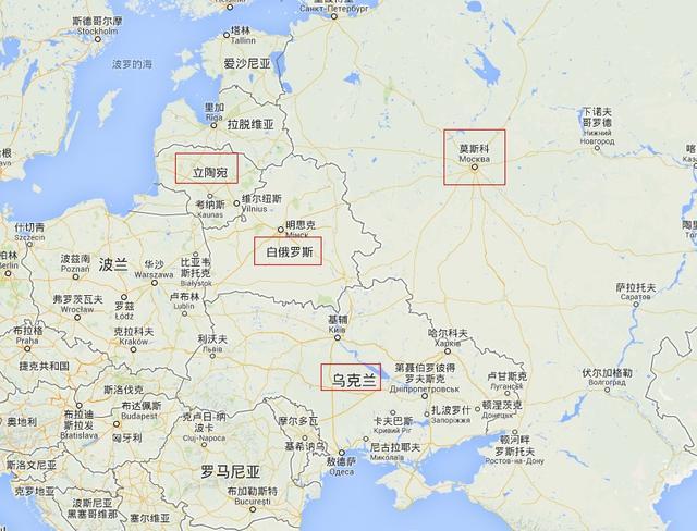 资料图:欧洲局部地图图片