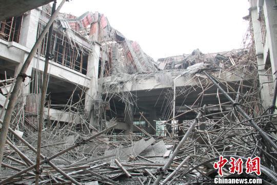 福州马尾一在建工地发生坍塌 四名工人被埋