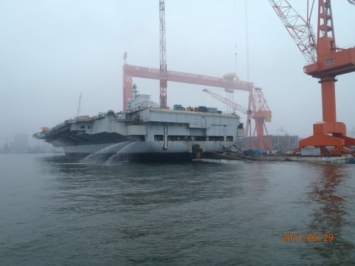 港媒:中国首艘航母海试时间延后1个月(图)