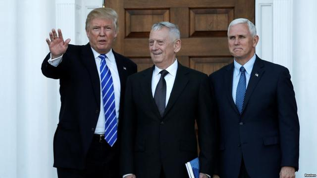 """特朗普提名马蒂斯任防长 绰号""""疯狗""""主张用更多军舰应对中国"""