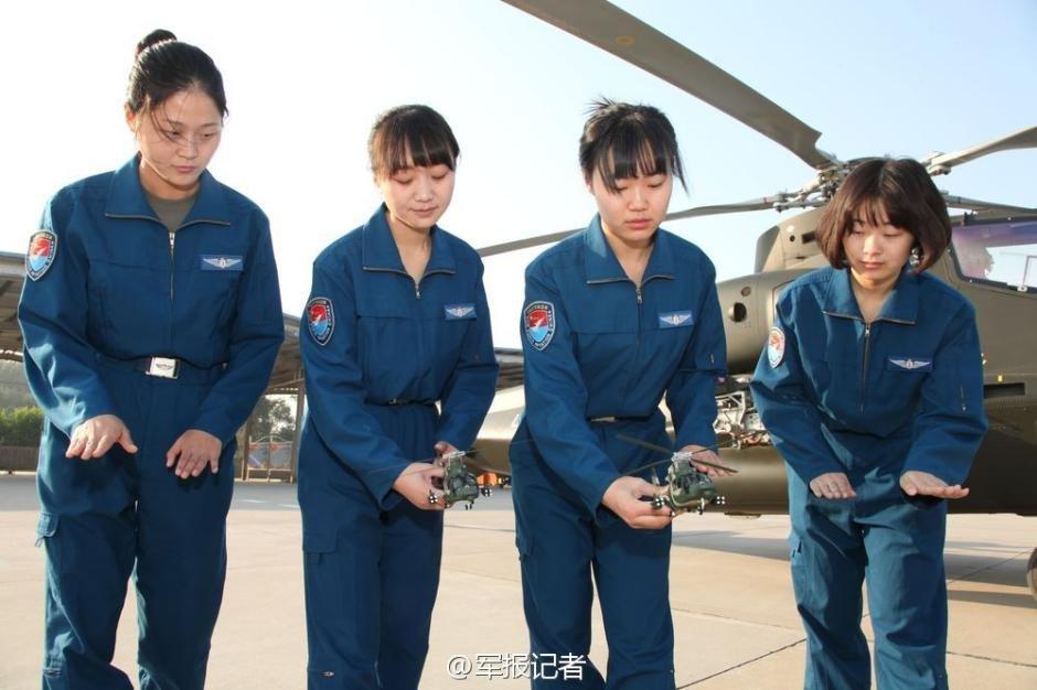 中国陆航首批武装直升机女飞行员亮相2014.10.30 - fpdlgswmx - fpdlgswmx的博客