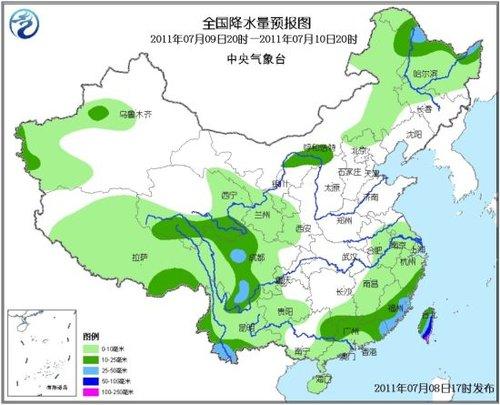 未来三天华南江南有较强降水 黄淮华南有高温