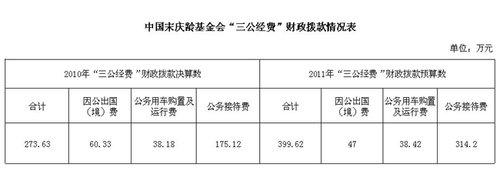 """中国宋庆龄基金会公开""""三公经费""""有关情况"""