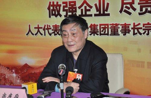 全国人大代表、娃哈哈集团公司董事长兼总经理宗庆后在新闻大厦举行媒体见面会 国际在线记者 姚毅婧摄