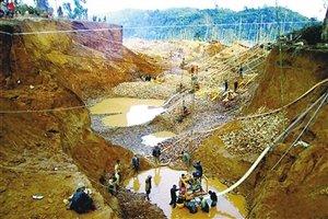 目前加纳已经有2-3万中国采金者
