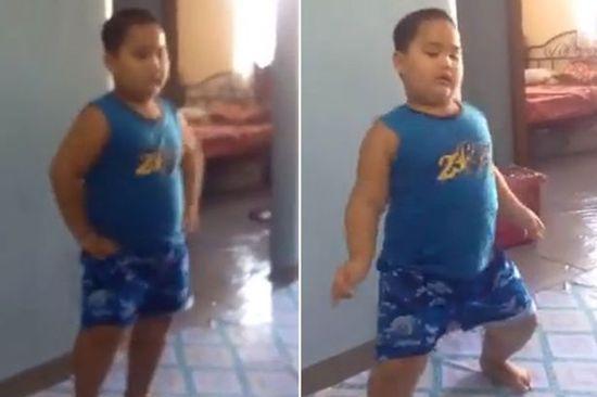 菲律宾男童模仿美流行歌手激情热舞蹿红网络